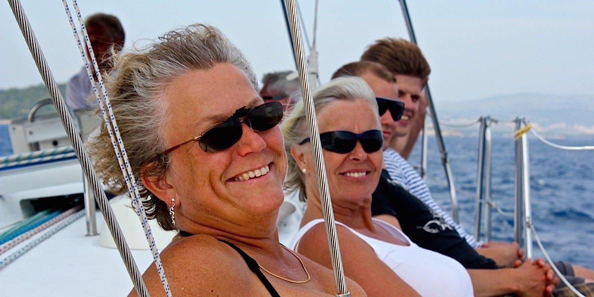 Kollegor på båt
