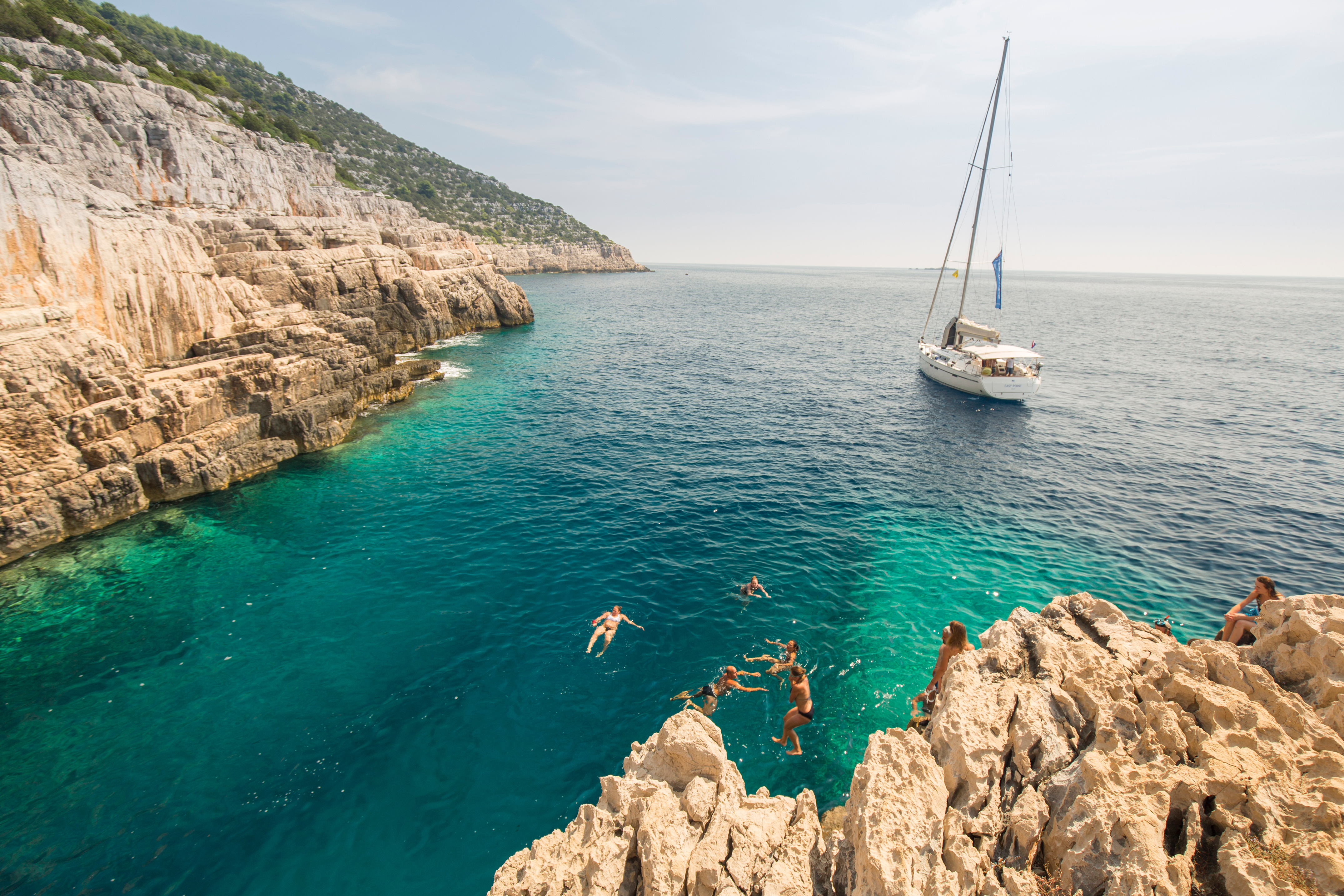 A boat in Mjlet island, Croatia