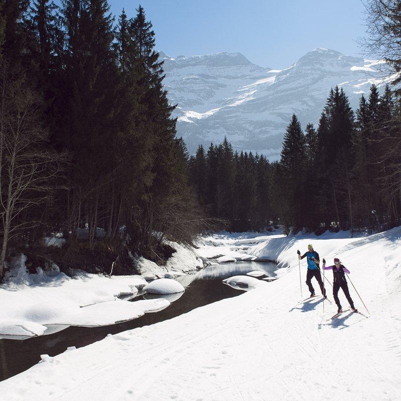 Ski de fond Diablerets Guillaume Mégevand