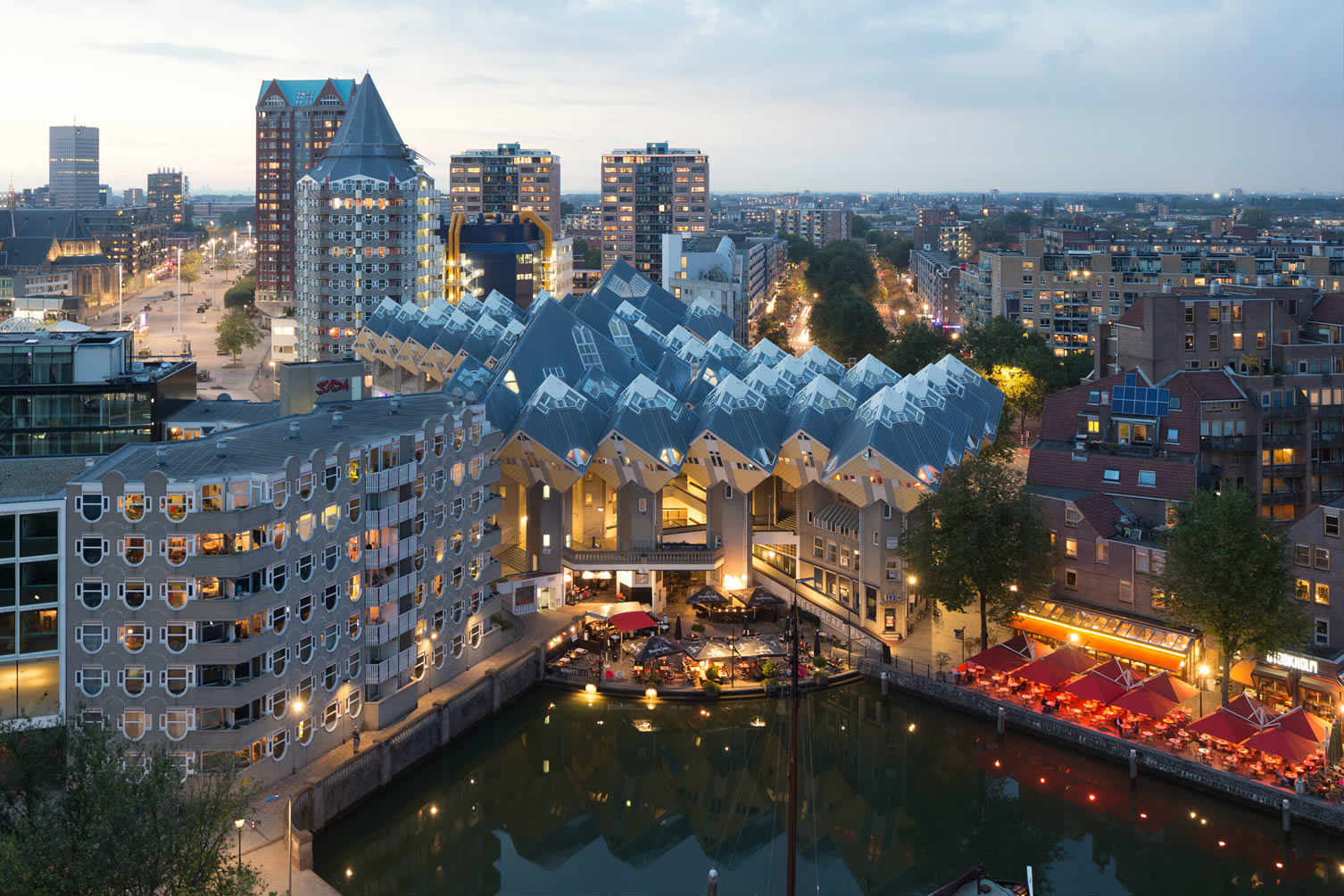 Rotterdam Cube Houses from above
