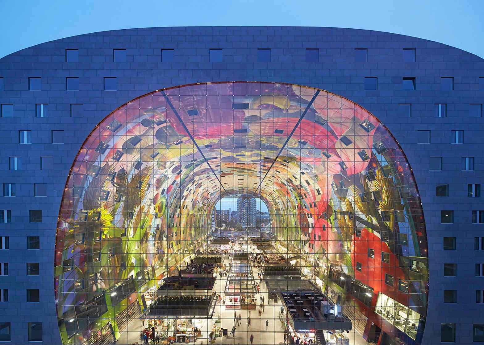 Rotterdam Market Hall colorful